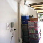 radon mitigation system in garage