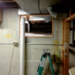 radon mitigation system in crawl space
